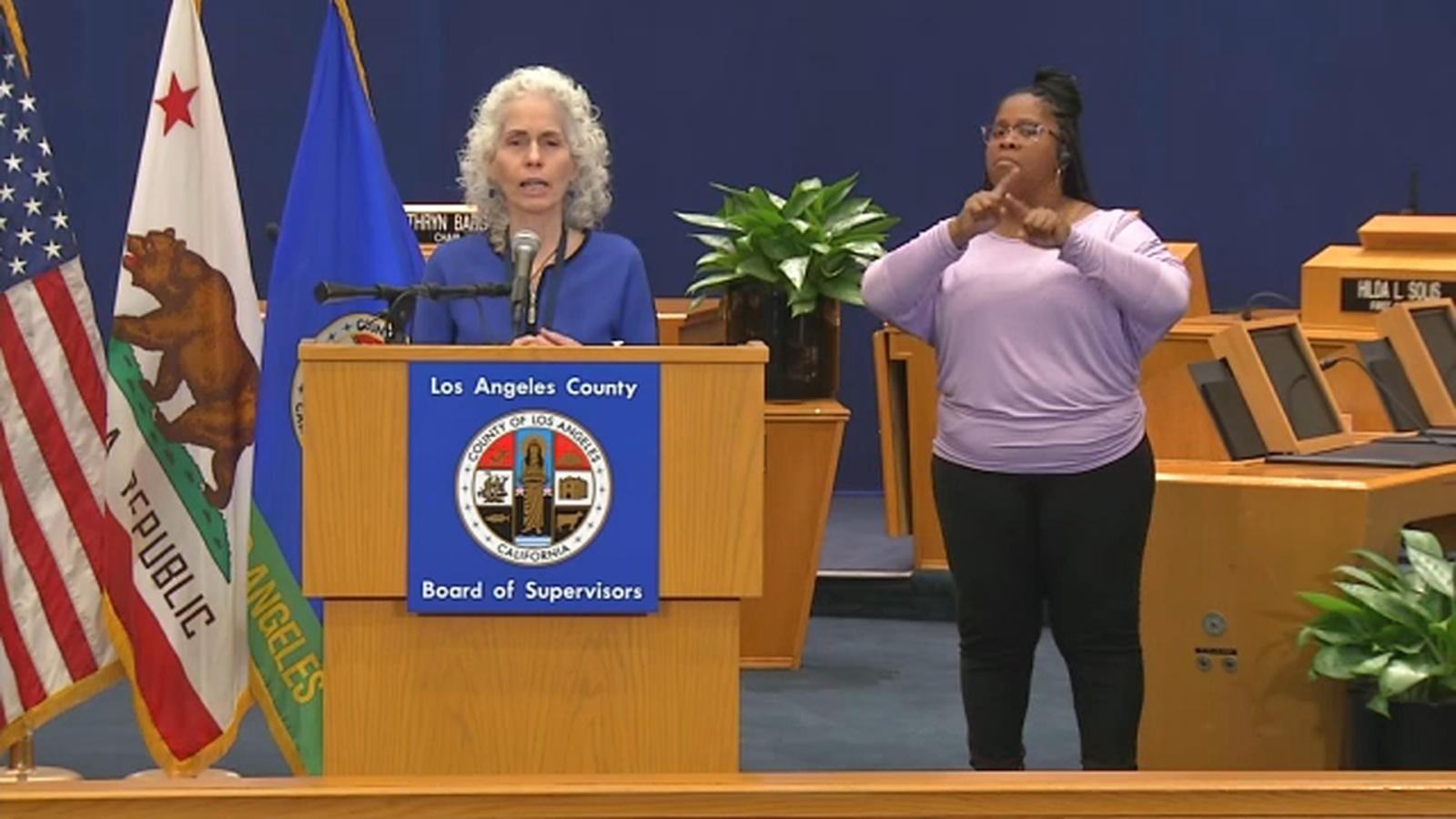 county public health director Dr. Barbara Ferrer