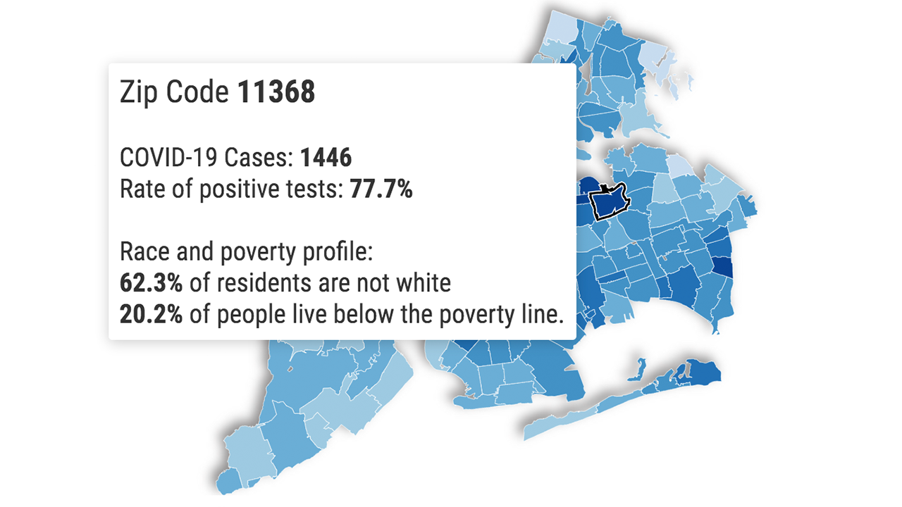 Picture of: Coronavirus Nyc Check Your Zip Code For Cases Tests Race And Poverty Details With This Tracking Map Abc7 New York