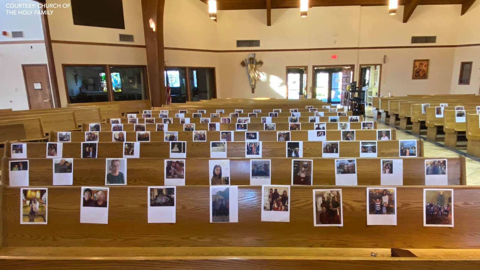 Church fills empty pews with photos of parishioners during COVID-19 crisis - 6abc Philadelphia