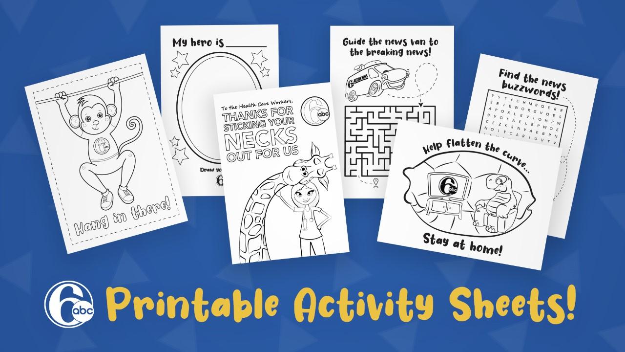 Coronavirus 6abc Activity Sheets To Help Entertain The Kids While Quarantined 6abc Philadelphia