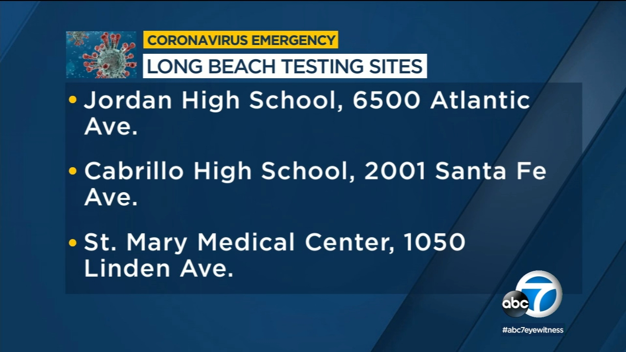 Testing Sites Opening In Long Beach