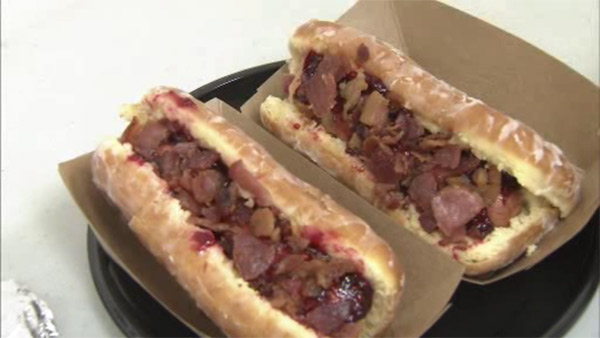 Name picked for Blue Rocks' new bacon hot dog on doughnut