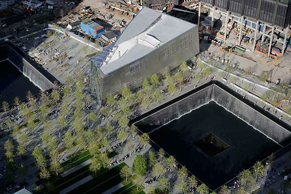 "<div class=""meta image-caption""><div class=""origin-logo origin-image ""><span></span></div><span class=""caption-text"">The entrance to the National September 11 Memorial Museum is shown. (AP Photo/Mark Lennihan) (Photo/Mark Lennihan)</span></div>"