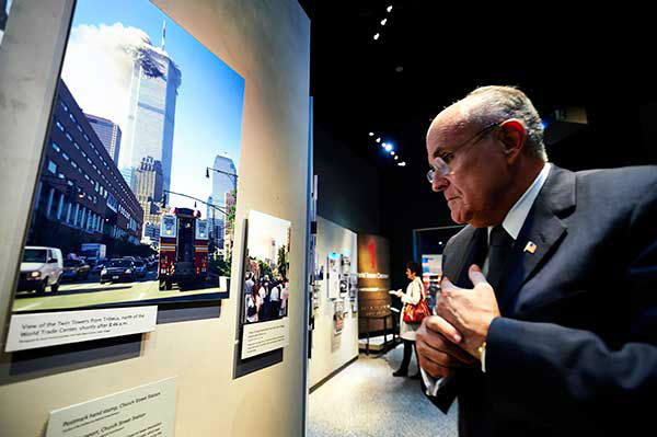 "<div class=""meta image-caption""><div class=""origin-logo origin-image ""><span></span></div><span class=""caption-text"">Former New York City Mayor Rudolph Giuliani looks at displays at the National September 11 Memorial Museum  (AP Photo/The Daily News, James Keivom, Pool) (Photo/James Keivom)</span></div>"