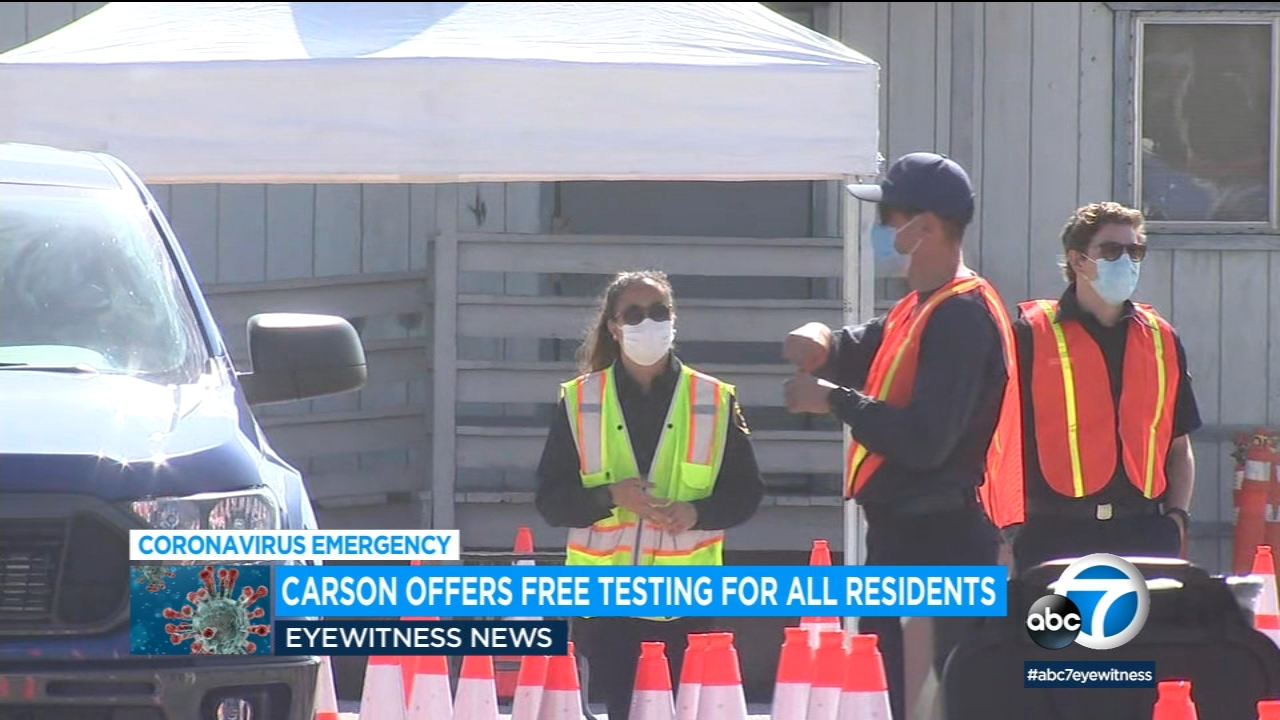 Carson To Start Offering Free Covid 19 Testing For All Residents