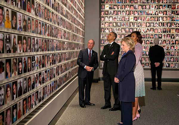 "<div class=""meta image-caption""><div class=""origin-logo origin-image none""><span>none</span></div><span class=""caption-text"">President Obama, Michelle Obama, Michael Bloomberg, Hillary Rodham Clinton, and Bill Clinton and tour the Sept. 11 museum.  (AP Photo/Carolyn Kaster) (Photo/Carolyn Kaster)</span></div>"