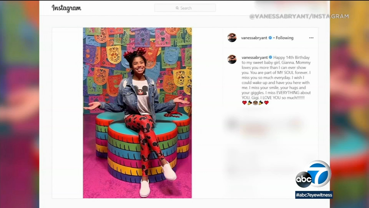 Vanessa Bryant Shares Heartfelt Tribute To Daughter Gianna Bryant On What Would Ve Been Her 14th Birthday Abc7 Los Angeles
