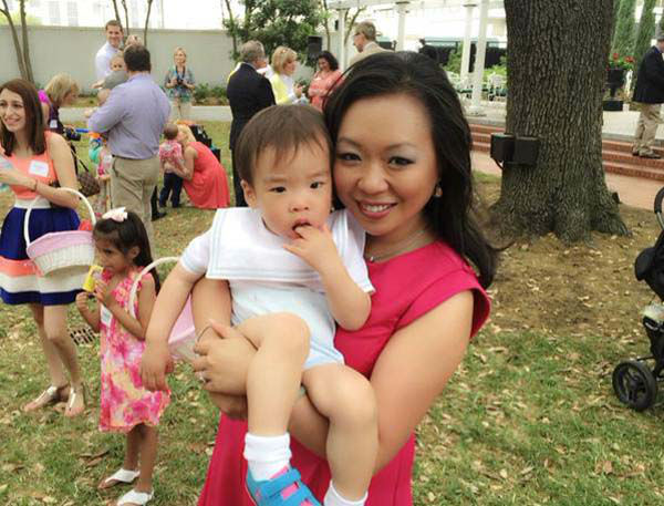 """<div class=""""meta image-caption""""><div class=""""origin-logo origin-image none""""><span>none</span></div><span class=""""caption-text"""">Miya Shay and baby Winston at his first Easter egg hunt (KTRK Photo)</span></div>"""