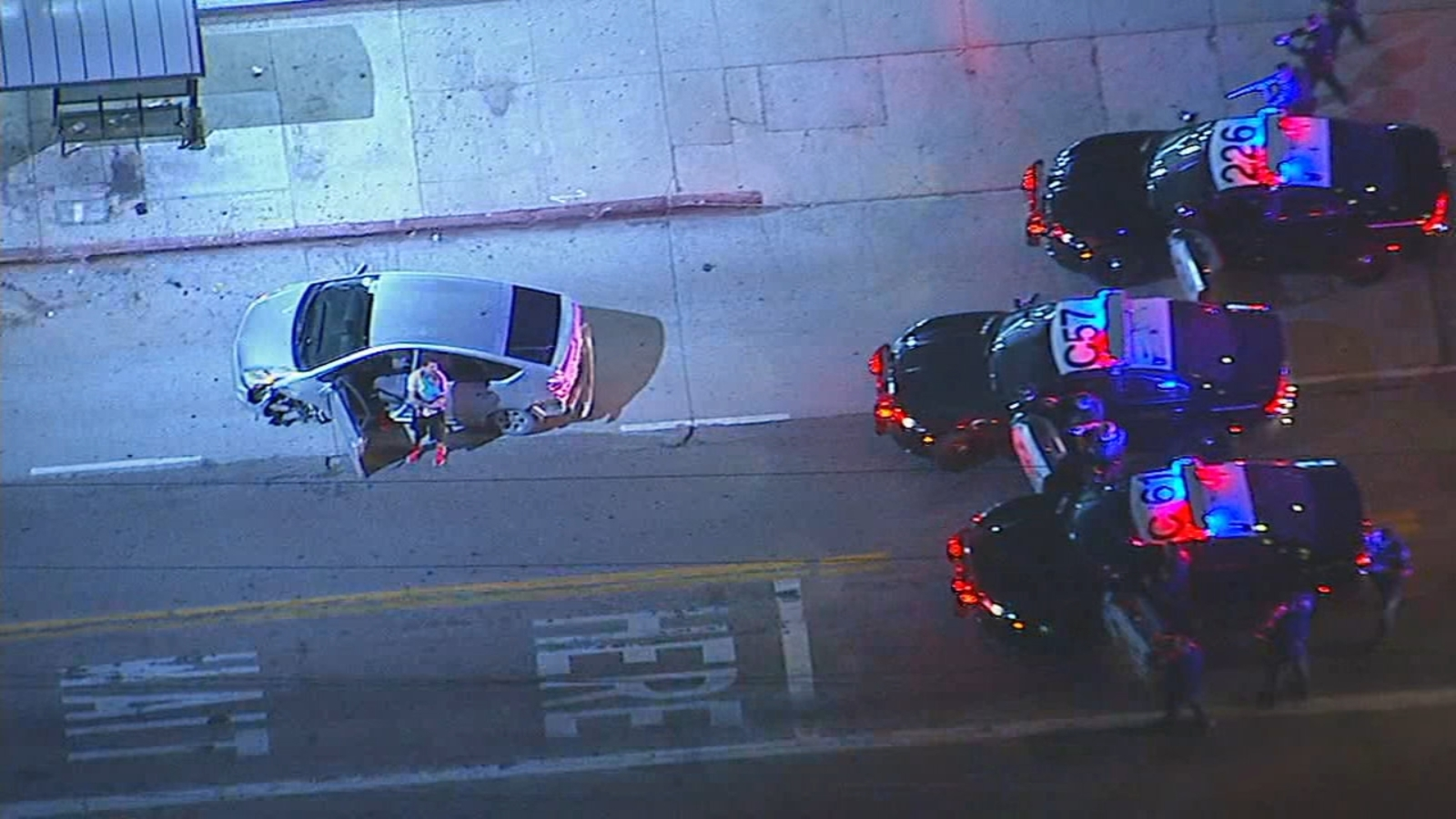 Chase ends in Crenshaw District with suspect surrendering child to authorities