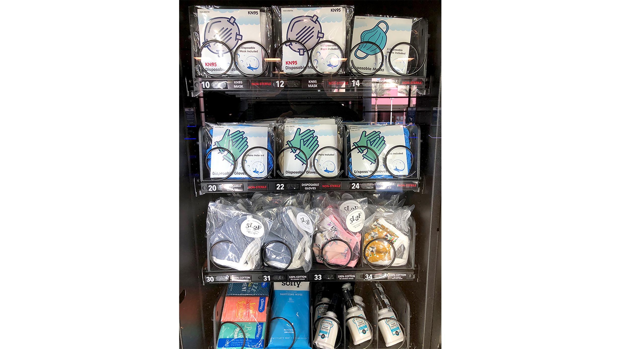 Coronavirus Us Las Vegas Airport Provides Personal Protective Equipment Vending Machines For Passengers Abc7 Chicago