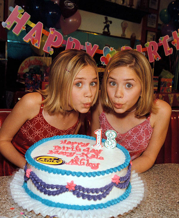 <div class='meta'><div class='origin-logo' data-origin='AP'></div><span class='caption-text' data-credit='AP'>THEN: Mary-Kate, left, and Ashley Olsen are pictured at a birthday party celebration held for them at a Beverly Hills, Calif., restaurant Wednesday, June 9, 1999.</span></div>