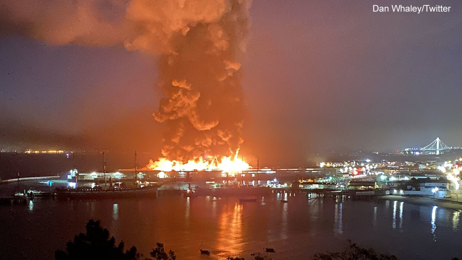 Massive Fire Breaks Out at San Francisco's Iconic Fisherman's Wharf