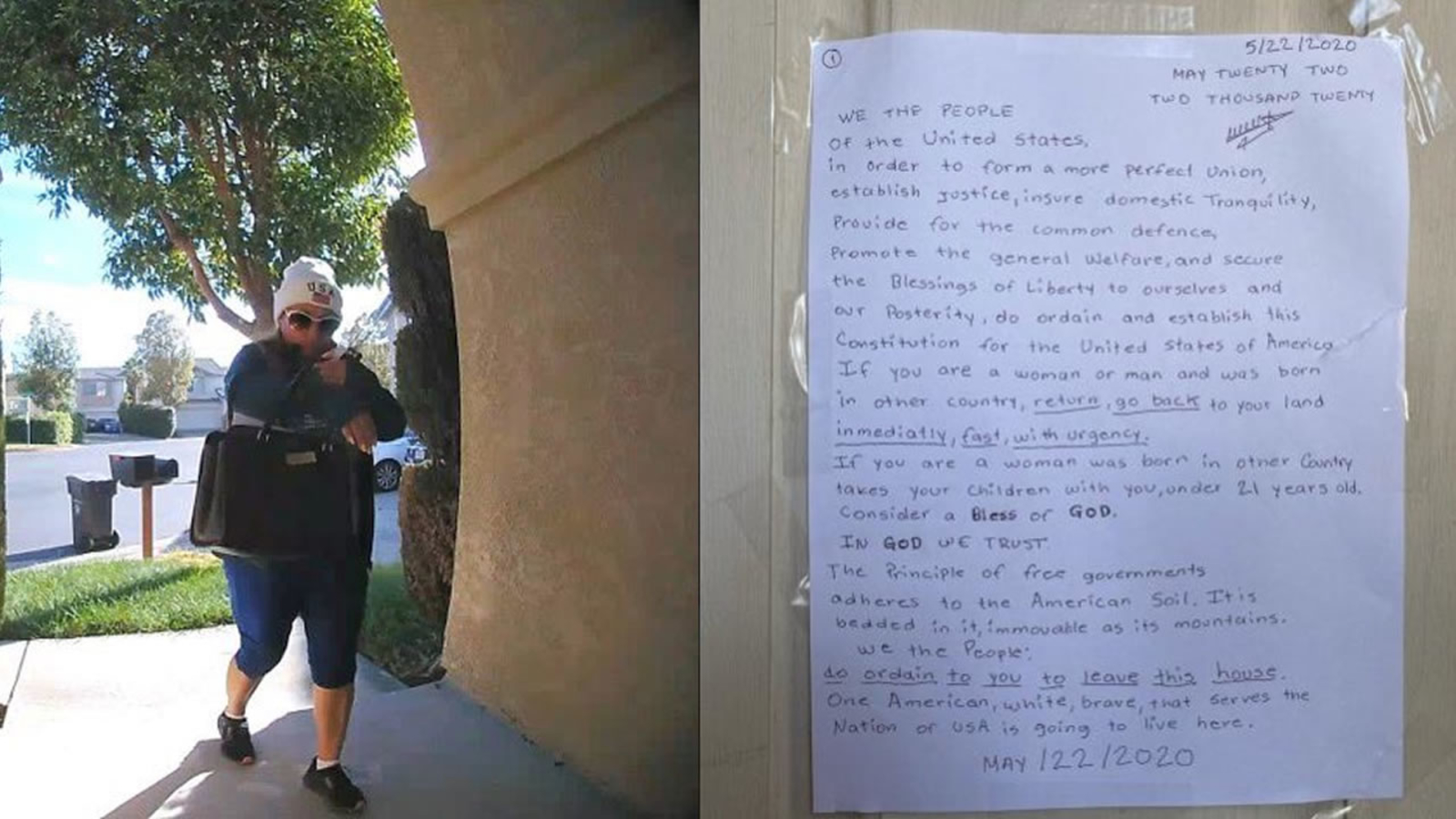 abc7news.com: Xenophobic letters targeting minorities posted on San Leandro homes, police make arrest
