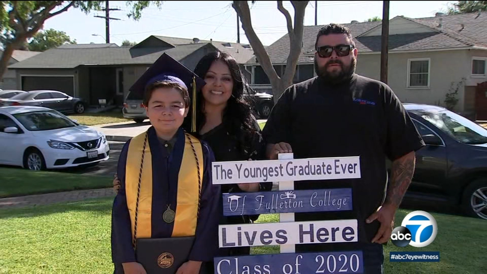 13-year-old student graduates from community college, earns 4 associate's degrees