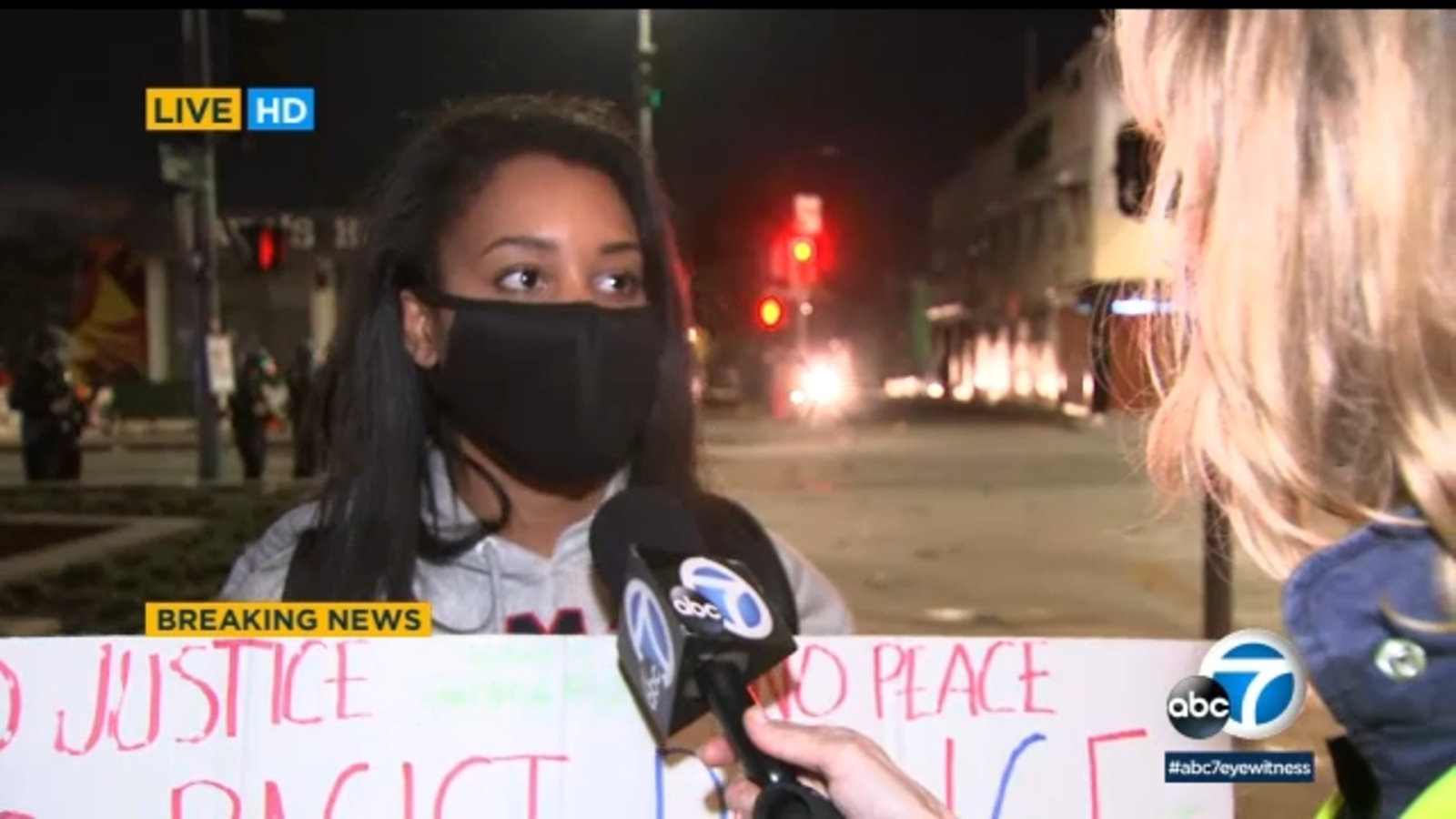 abc7.com: Los Angeles protester compares violence, riots in LA to racial inequality in society