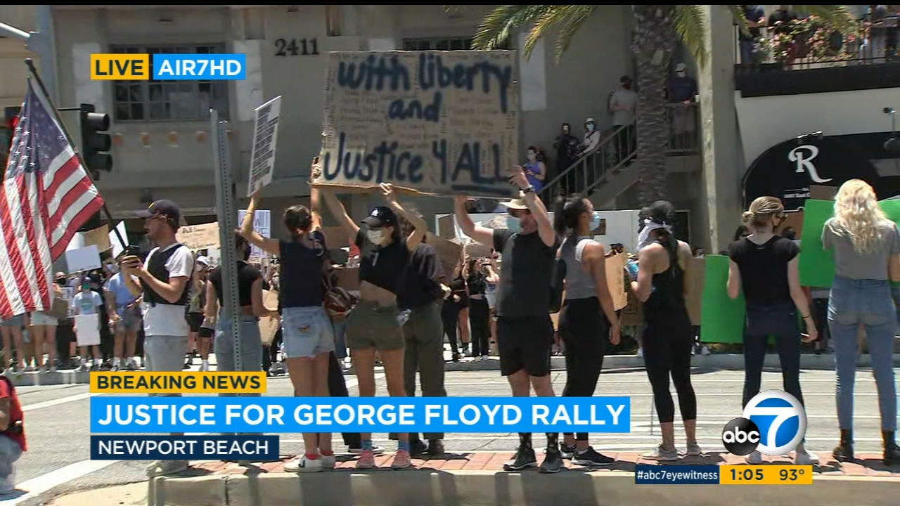 Protests across Orange County draw large crowds, call for justice in George Floyd's death