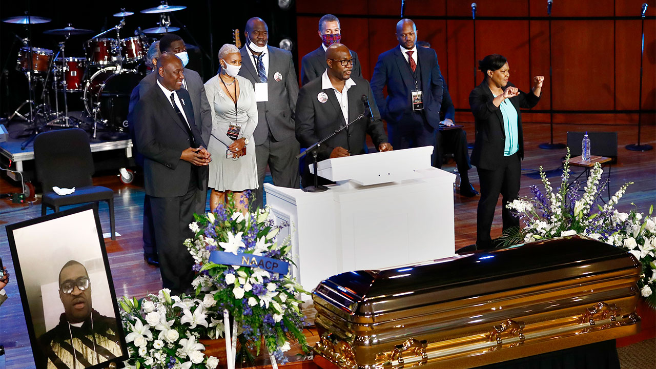 George Floyd mourned, celebrated as death used as call to action in Minneapolis service
