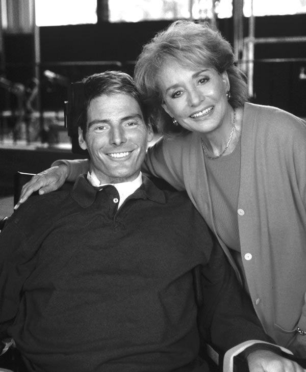 """<div class=""""meta image-caption""""><div class=""""origin-logo origin-image """"><span></span></div><span class=""""caption-text"""">In his first interview since he was left paralyzed from the neck down, actor Christopher Reeve talks with Barbara Walters on a special ABC News' """"20/20."""" (ABC PHOTO ARCHIVES)</span></div>"""
