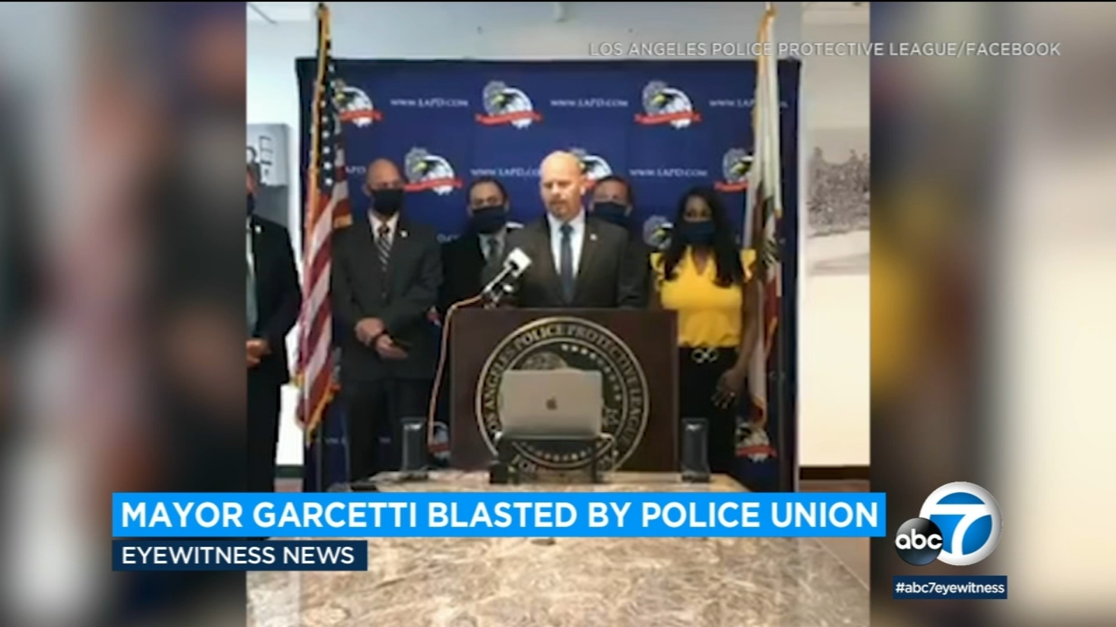 Amid proposed budget cuts, Los Angeles police union says Mayor Garcetti has 'lost his damn mind'