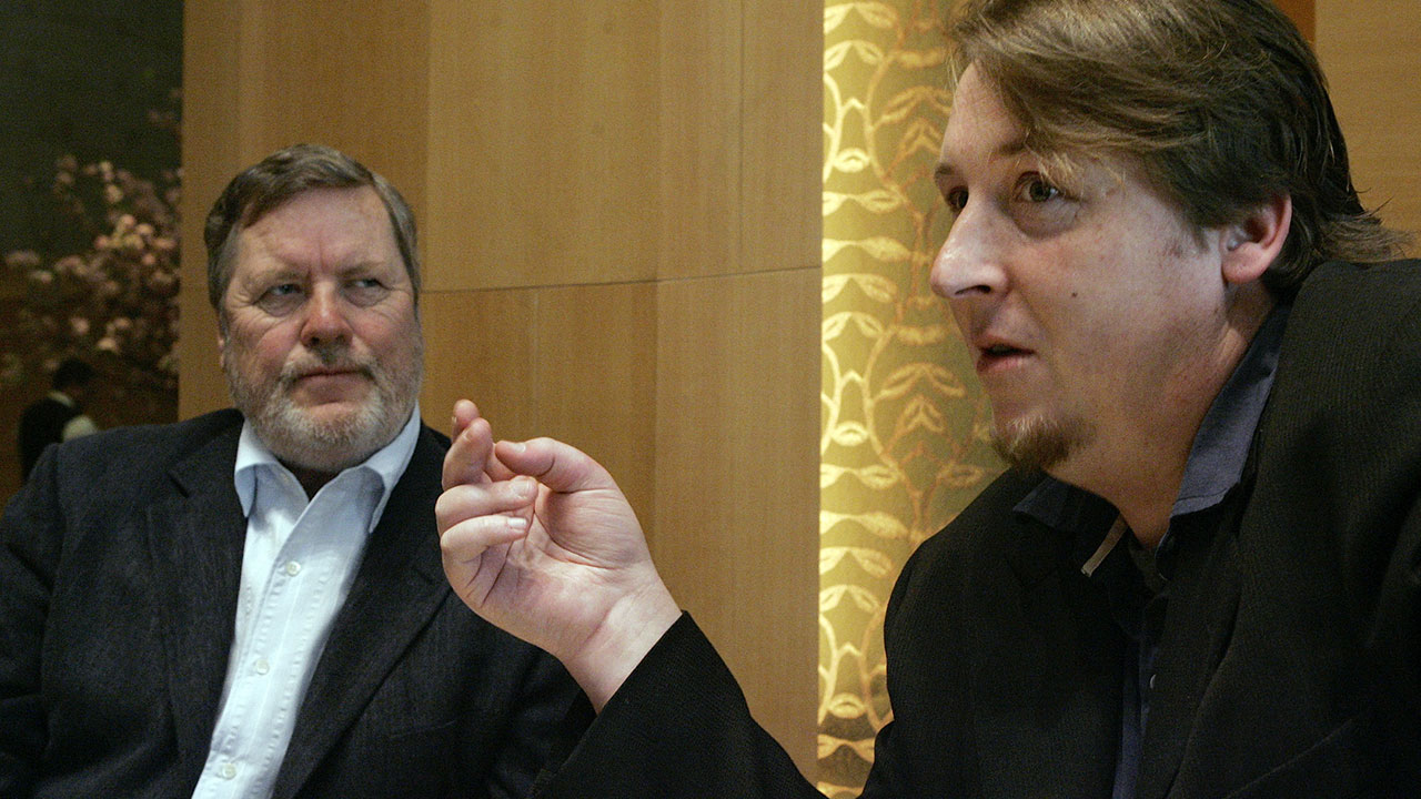 "John Langley, left, creator of the show ""Cops"" is seen in a 2007 file photo. His son Morgan, right, was serving as vice president of Langley Productions."