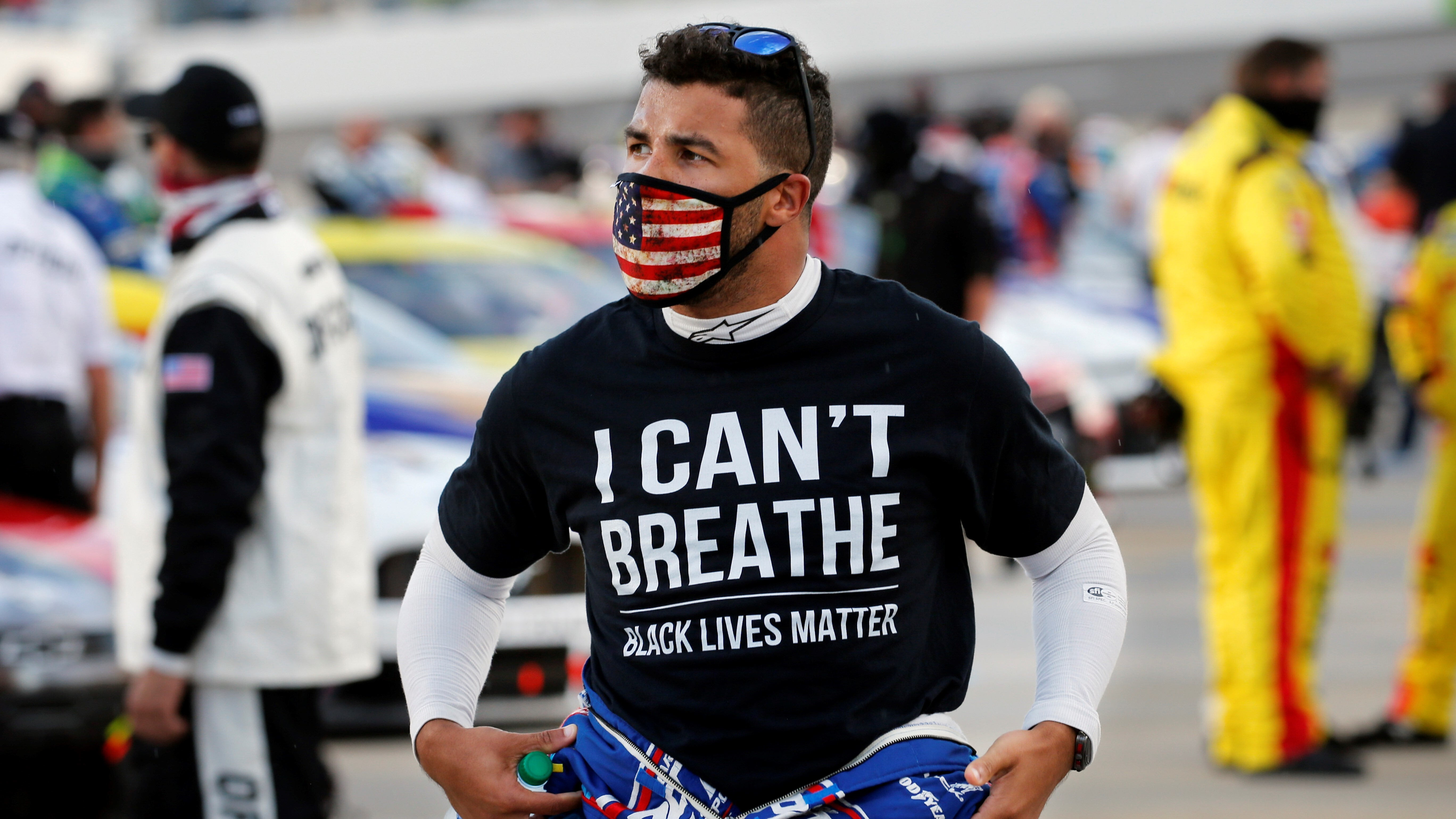 it s not about you driver bubba wallace proud of nascar s decision to ban confederate flags from races ray ciccarelli says he ll quit sport over ruling abc7 new york 2
