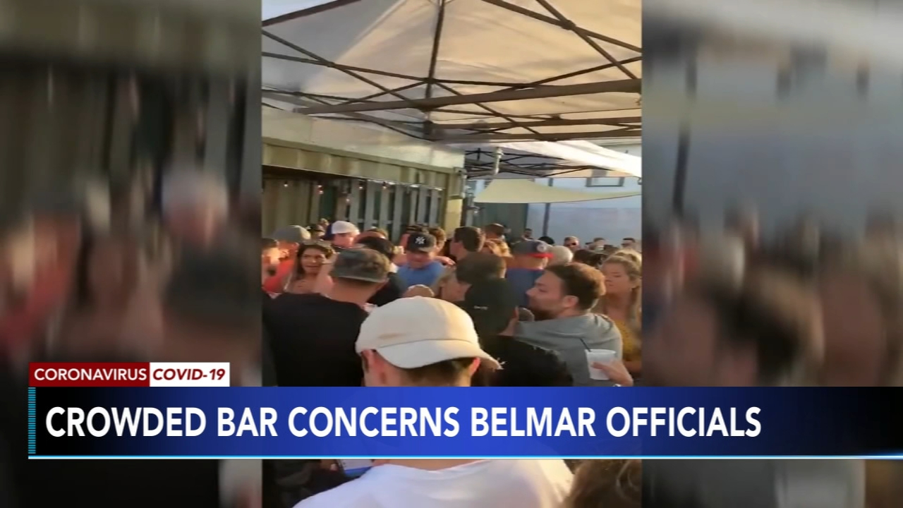 Officials worried after video shows crowded Jersey shore bar