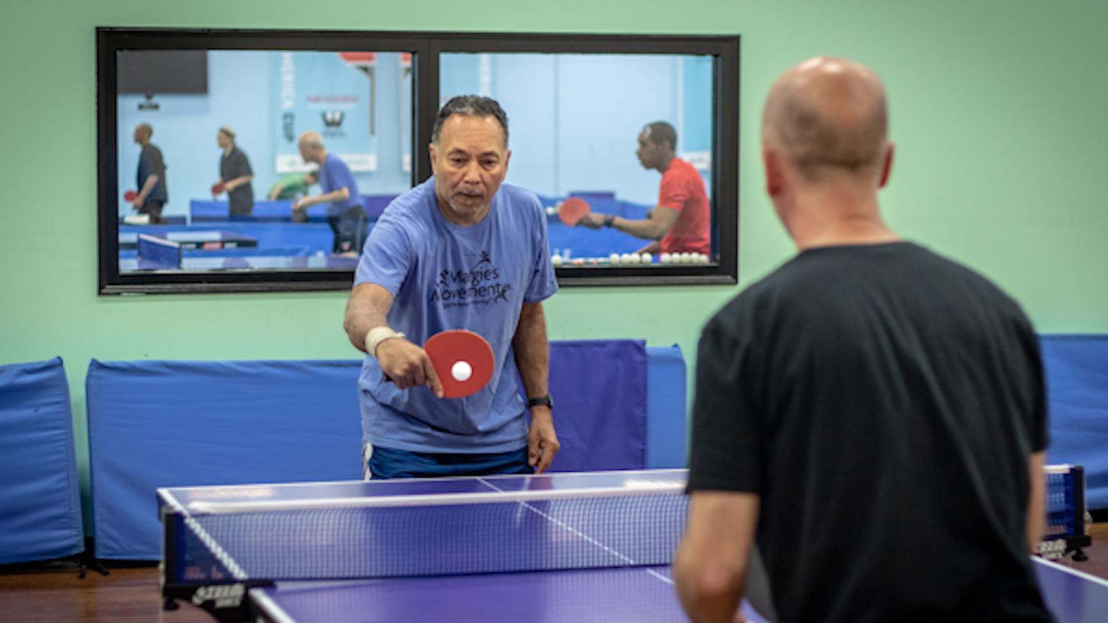 Parkinson patients play ping pong to combat disease symptoms