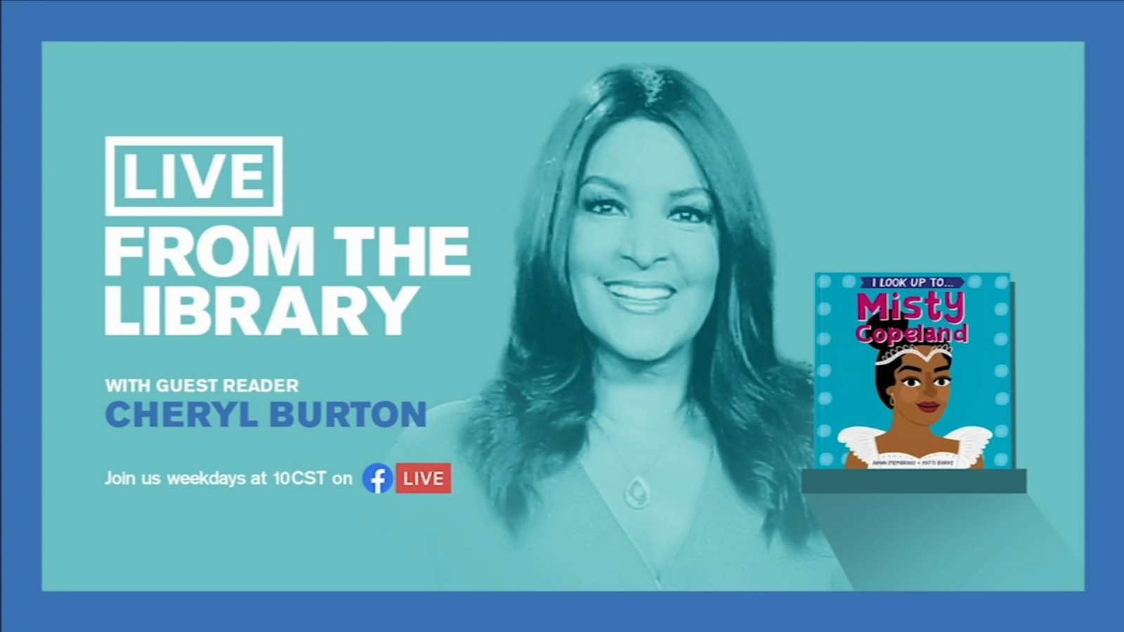 Cheryl Burton to read to Chicago kids on 'Live from the Library'