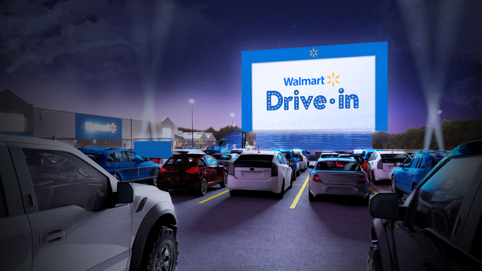 Pop Up Theaters Walmart Turning 160 Parking Lots Into Drive In Movie Theaters Abc7 Los Angeles