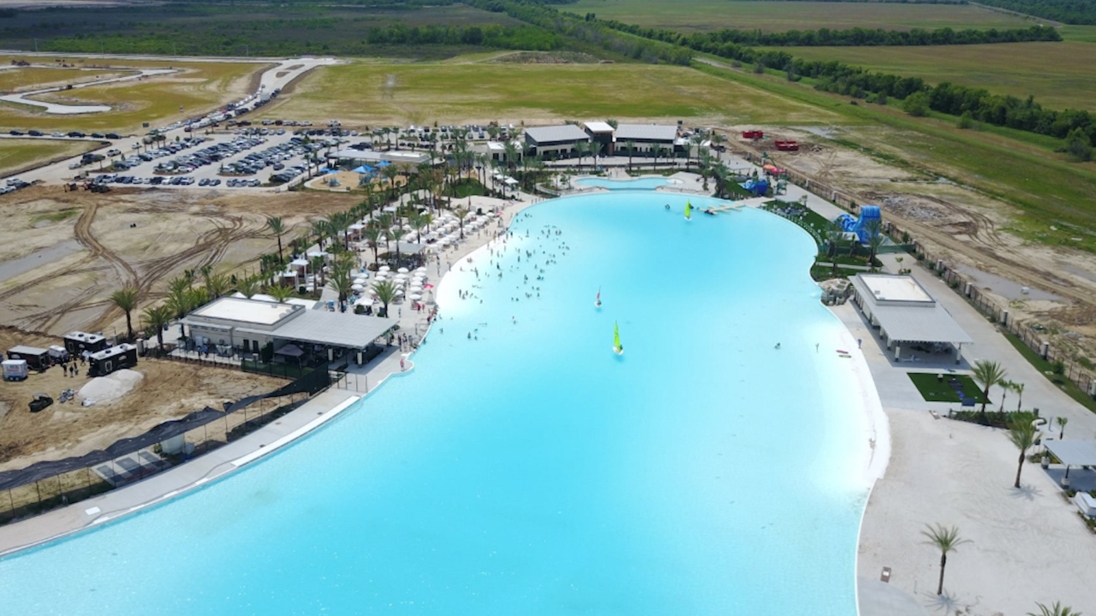State S Largest Crystal Lagoon Opens In Texas City Abc13 Houston