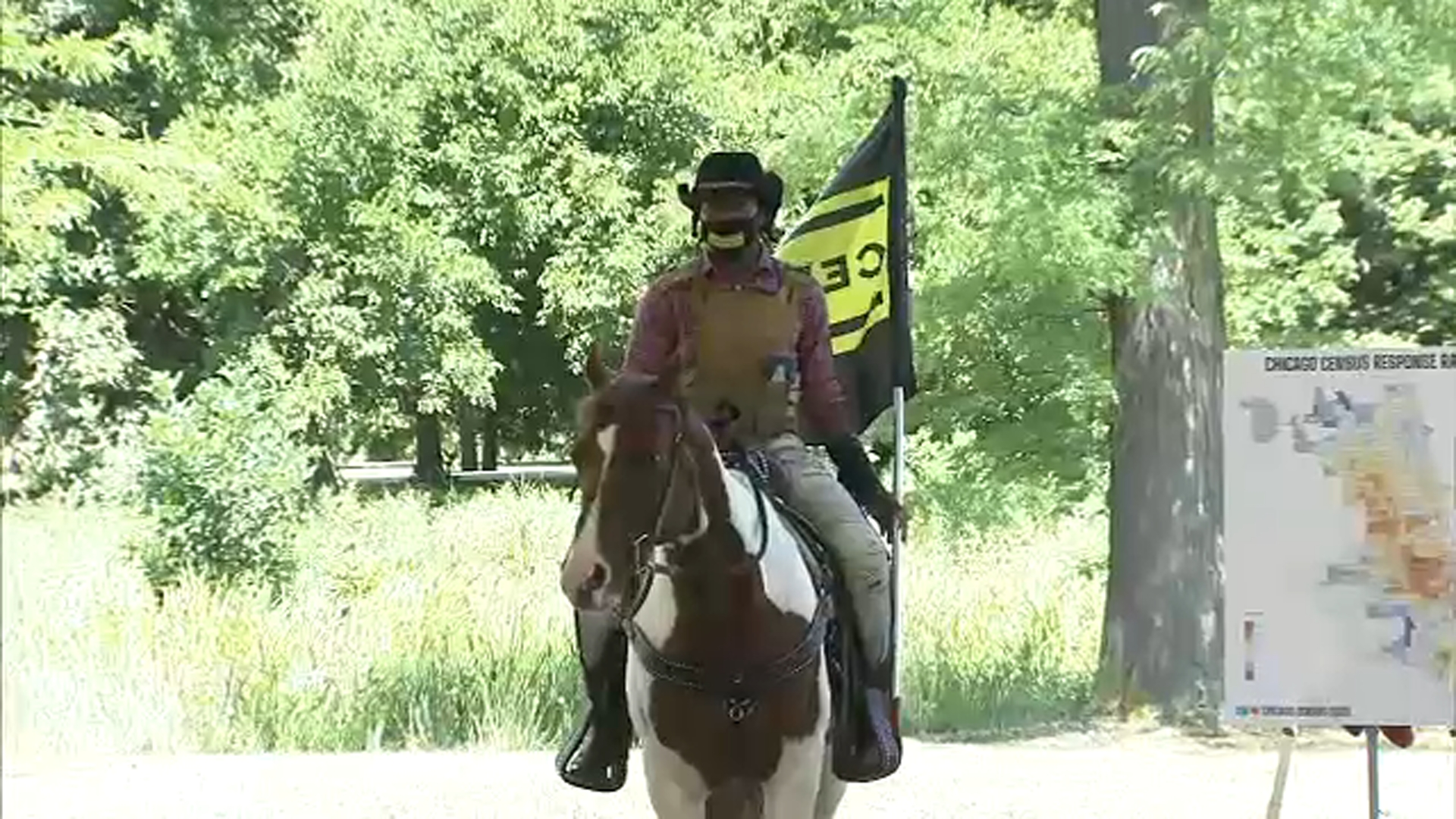 Chicago Census 2020 Mayor Lori Lightfoot Urges Participation By Introducing Census Cowboy Adam Hollingsworth Abc7 Chicago