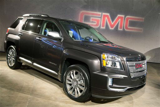"<div class=""meta image-caption""><div class=""origin-logo origin-image none""><span>none</span></div><span class=""caption-text"">The 2016 GMC Terrain Denali is introduced at the New York International Auto Show (AP Photo/ Mark Lennihan)</span></div>"
