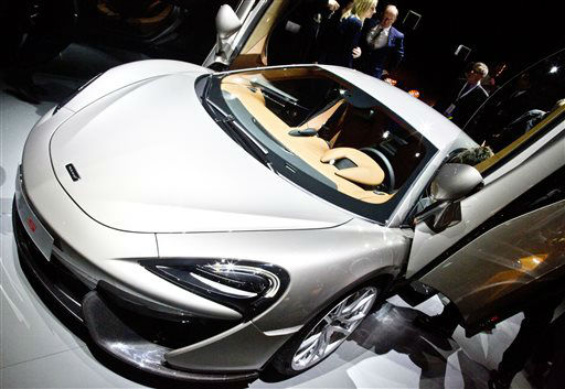 "<div class=""meta image-caption""><div class=""origin-logo origin-image none""><span>none</span></div><span class=""caption-text"">The McLaren 570S Sport Series, the company's first sports market car derived from racing technology, is unveiled at the New York International Auto Show (AP Photo/ Bebeto Matthews)</span></div>"