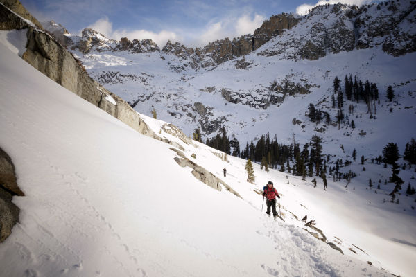 "<div class=""meta image-caption""><div class=""origin-logo origin-image none""><span>none</span></div><span class=""caption-text"">In this photo taken March 30, 2014, Cristina Dressel climbs out of the Emerald Lake basin on her way to the Pear Lake cabin in the wilderness in Sequoia National Park, Calif. (AP Photo/ Brian Melley)</span></div>"