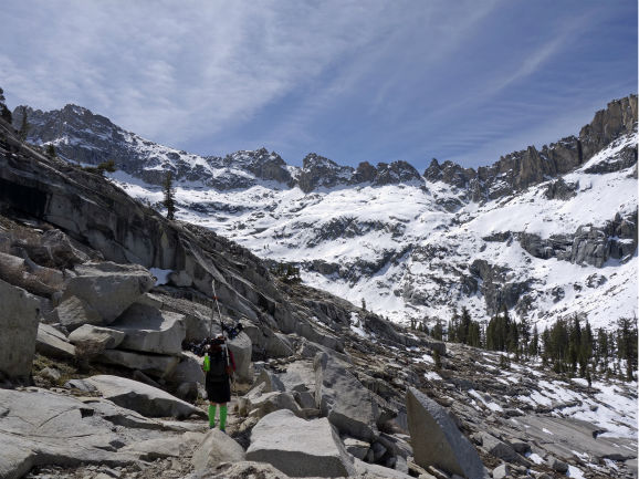 "<div class=""meta image-caption""><div class=""origin-logo origin-image none""><span>none</span></div><span class=""caption-text"">Kelly Helgans hikes into the Emerald Lake basin on her way back to civilization from the Pear Lake cabin after backcountry skiing in the Sequoia National Park wilderness (AP Photo/ Brian Melley)</span></div>"