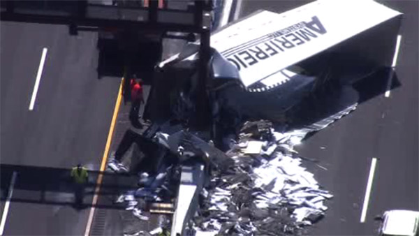 Truck crash on NJ Turnpike
