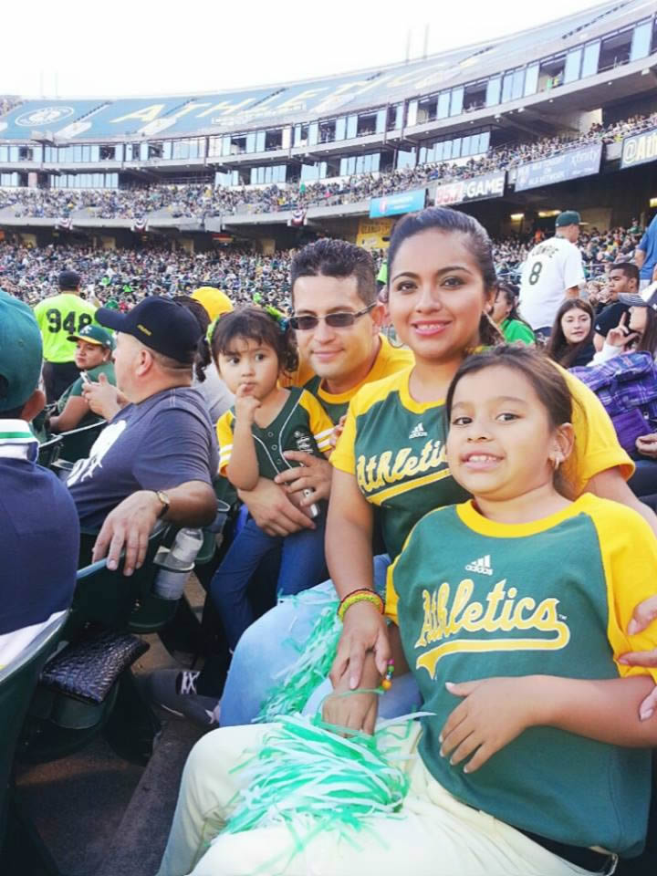 "<div class=""meta image-caption""><div class=""origin-logo origin-image none""><span>none</span></div><span class=""caption-text"">Let's go A's!  Send in your Oakland Athletics pride photos to ABC7 News and we may share them on TV! (Photo submitted to KGO-TV by Zoily A./Facebook)</span></div>"