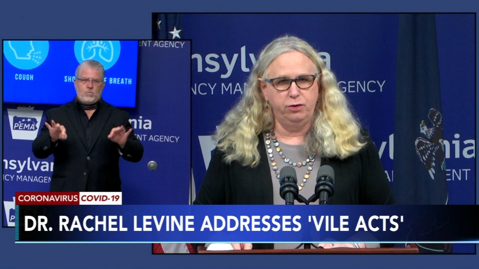 Dr. Rachel Levine responds to acts of LGBTQ harassment