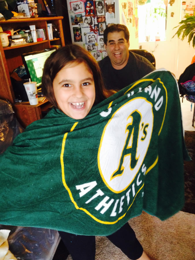 "<div class=""meta image-caption""><div class=""origin-logo origin-image none""><span>none</span></div><span class=""caption-text"">Let's go A's!  Send in your Oakland Athletics pride photos to ABC7 News and we may share them on TV! (Photo submitted by Melissa./KGO-TV uReport)</span></div>"