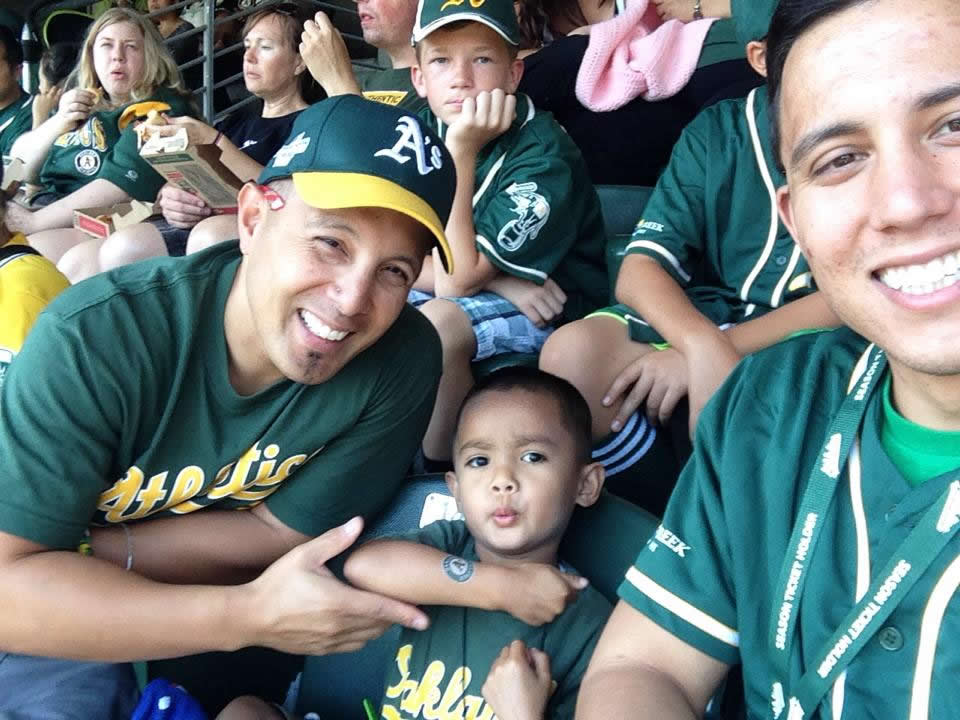 "<div class=""meta image-caption""><div class=""origin-logo origin-image none""><span>none</span></div><span class=""caption-text"">Let's go A's!  Send in your Oakland Athletics pride photos to ABC7 News and we may share them on TV! (Photo submitted by Arlyn D./KGO-TV uReport)</span></div>"