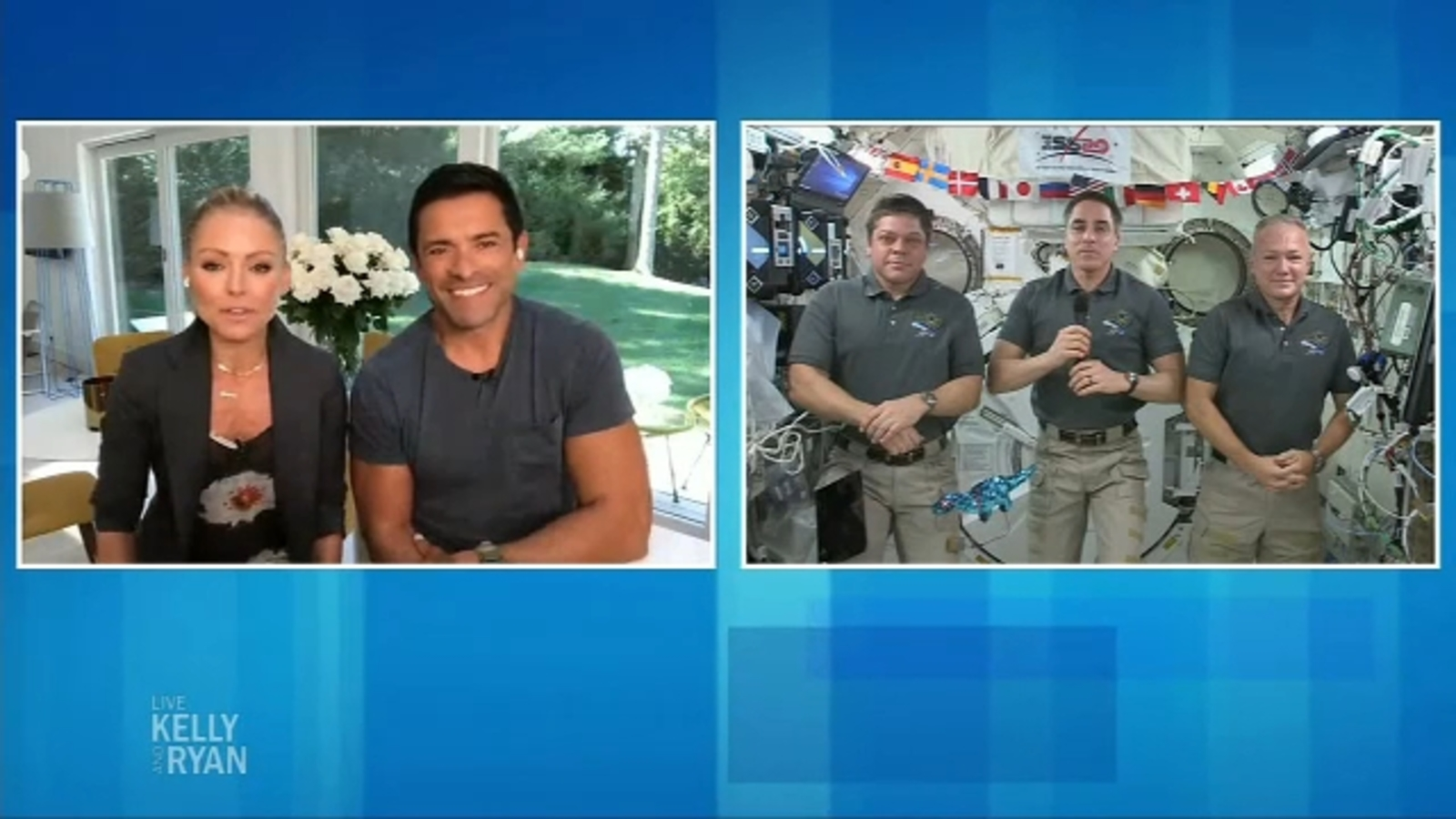 'Live with Kelly and Ryan' interviews astronauts on board International Space Station