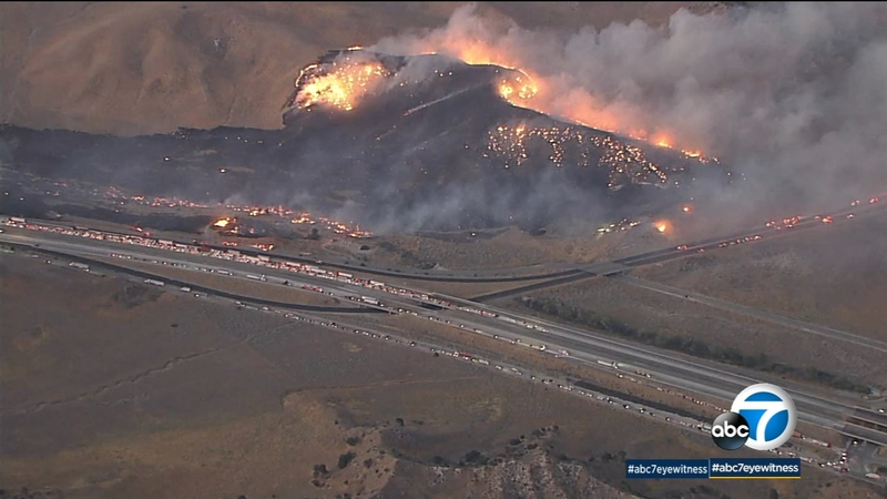 Post Fire In Gorman Near 5 Freeway Holding At 120 Acres 35 Contained Several Road Closures Remain Abc30 Fresno