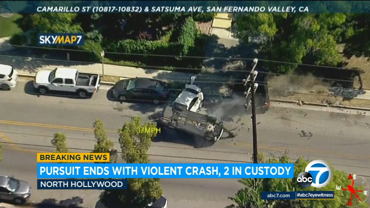 High speed chase through the Valley ends in violent crash