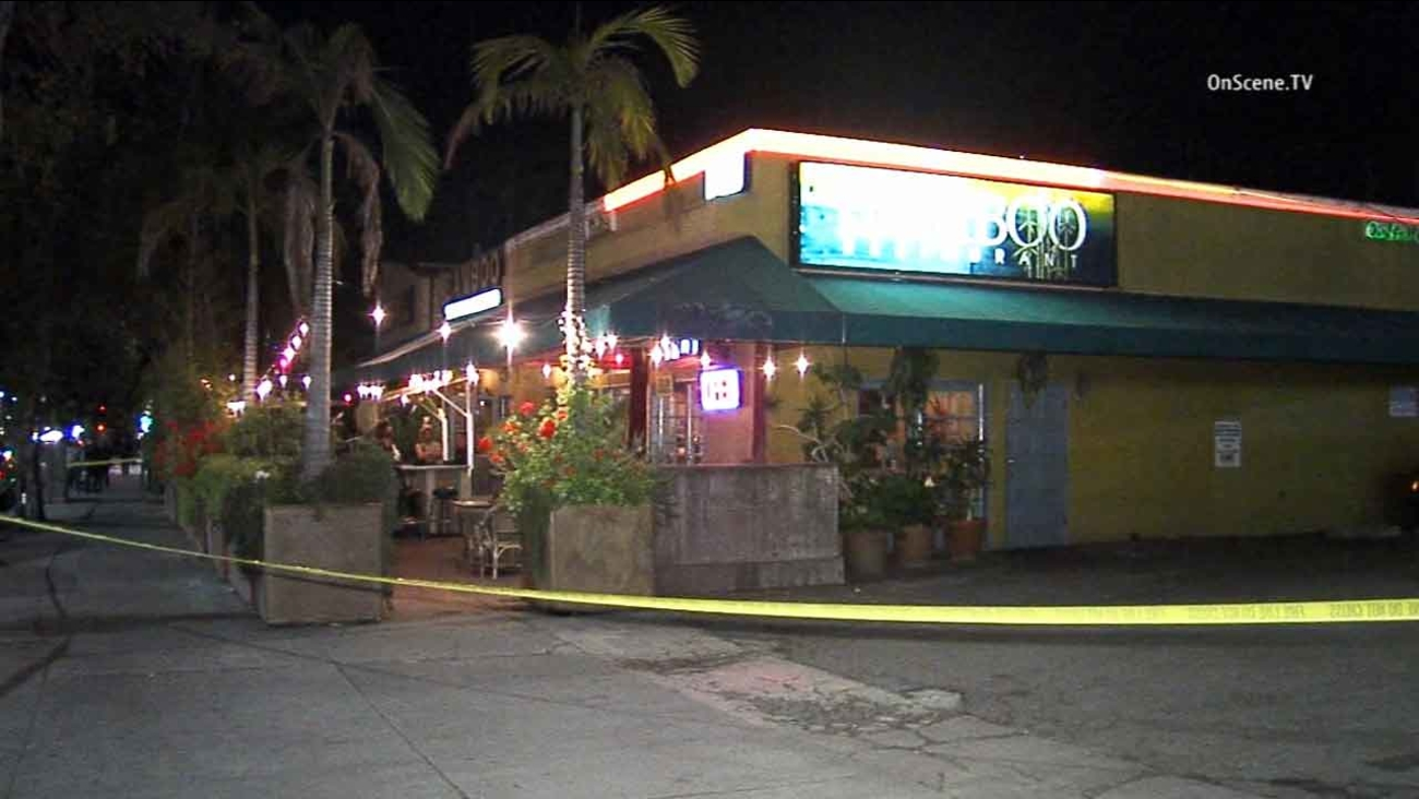 A gunshot victim walked into the Bamboo Restaurant in the 10800 block of Venice Boulevard in Palms Monday, April 6, 2015.