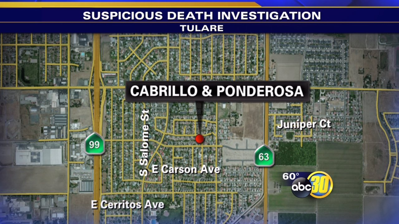 Tulare man's death treated as suspicious