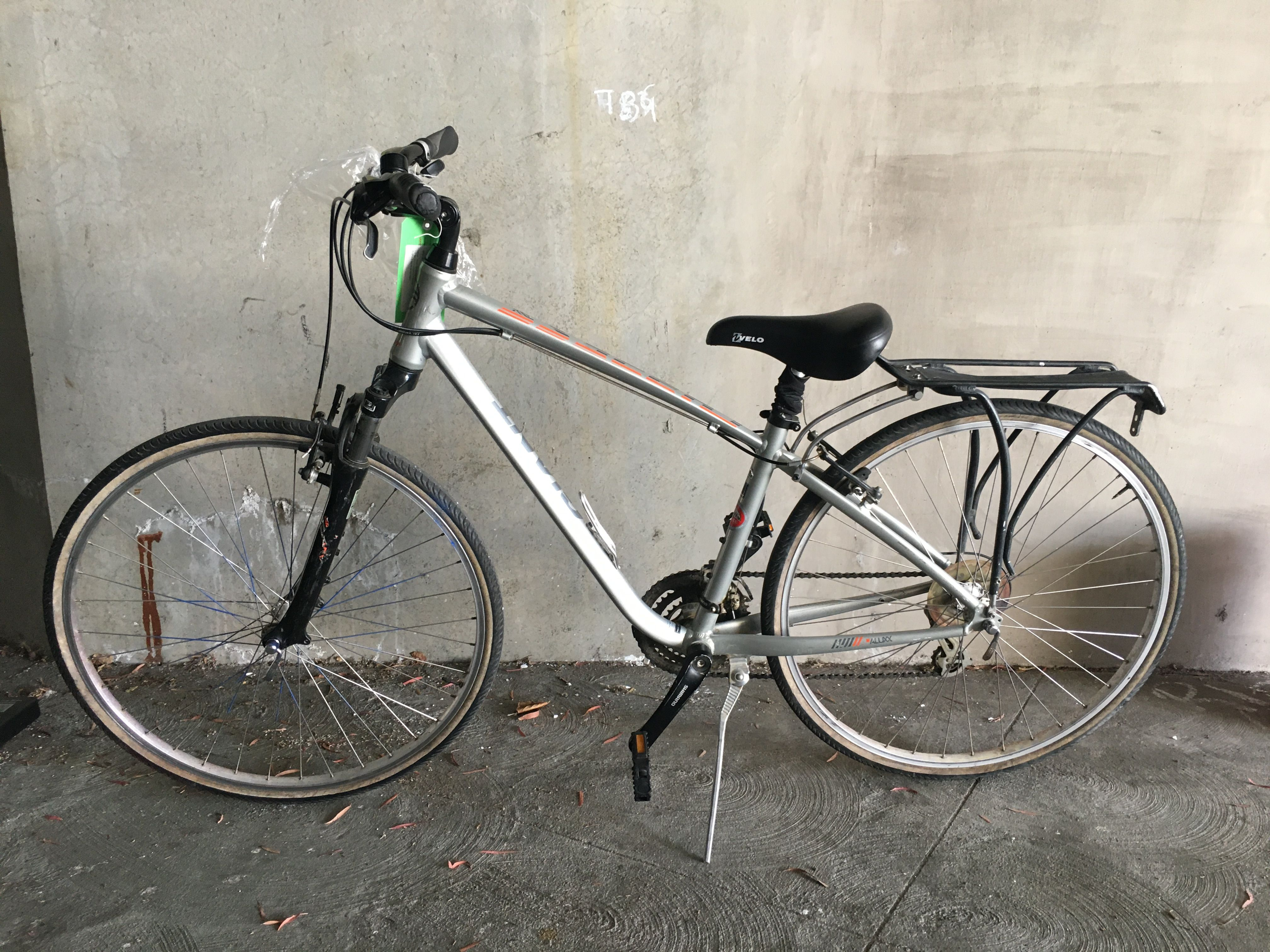 This image shows a bike believed to belong to the suspect in a sexual assault that took place in San Mateo, Calif. on Aug. 5, 2020.