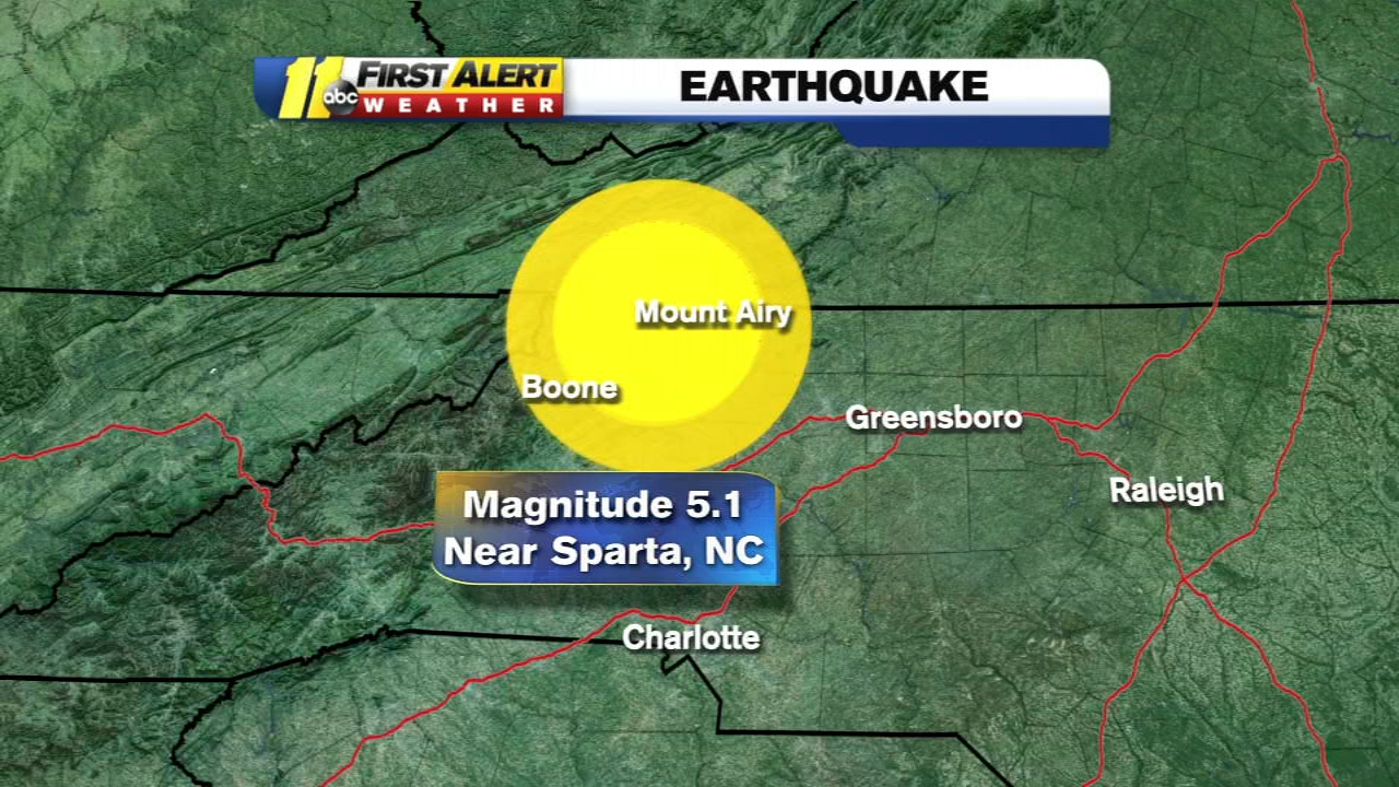 NC earthquake: 5.1 magnitude earthquake reported in Sparta, could ...