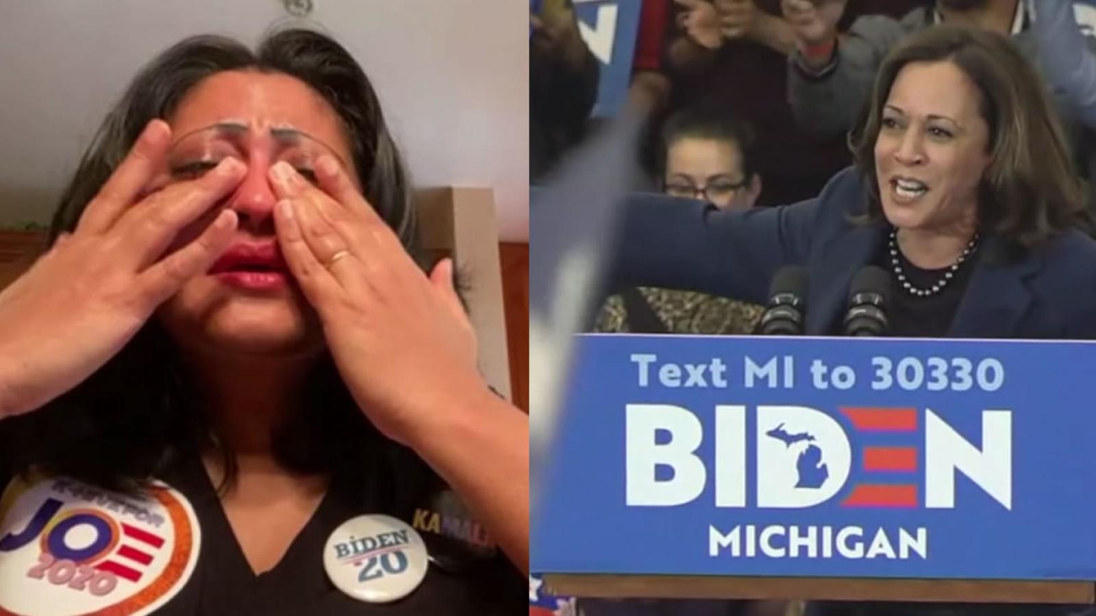 South Asians For Joe Biden Supporter Has Emotional Response To Vp Pick Kamala Harris I Feel Seen And Heard Abc7 San Francisco