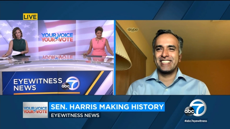 Reflecting On Historic Nature Of Sen Kamala Harris Vp Bid Importance To Asian American Community Abc7 Los Angeles