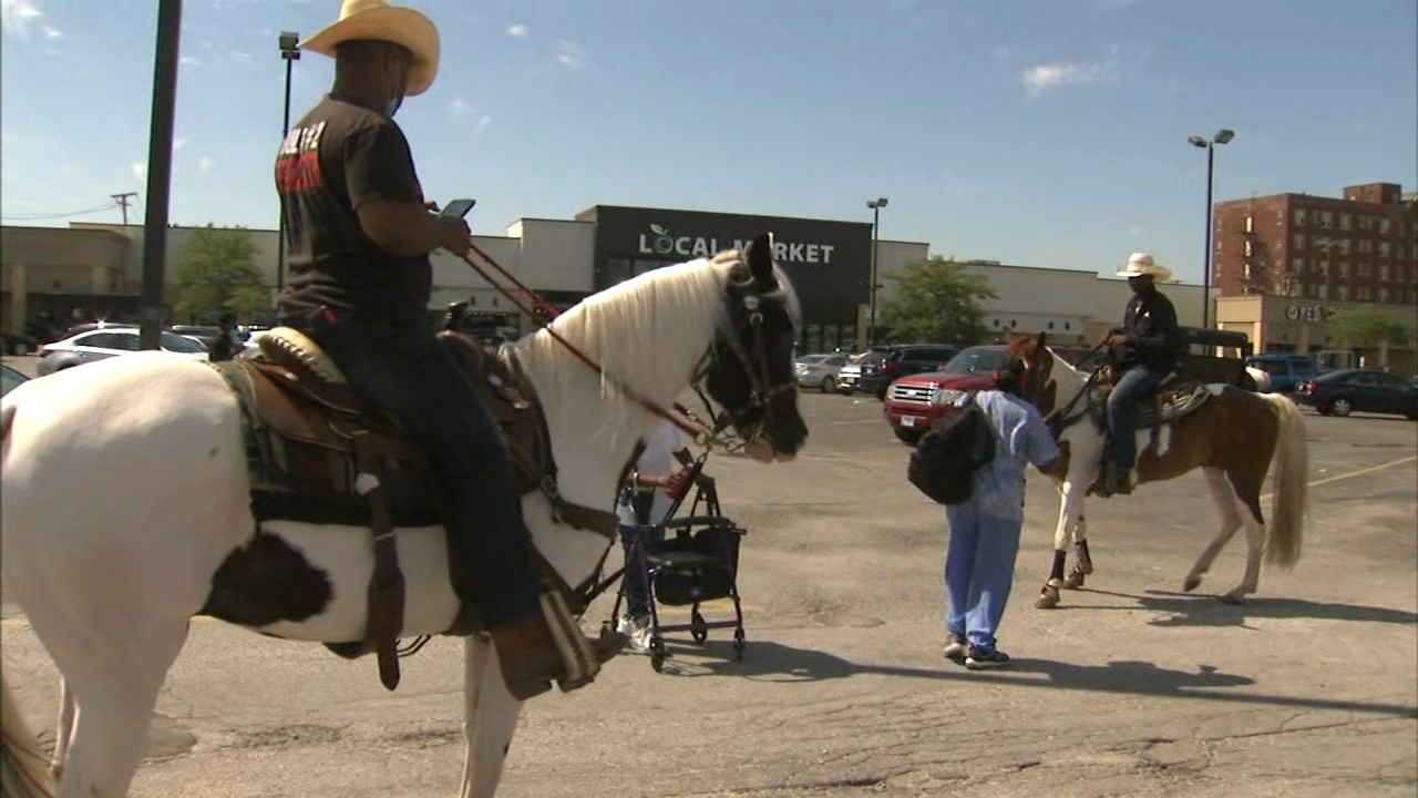 Chicago census cowboys ride to low-response neighborhoods so people can be counted